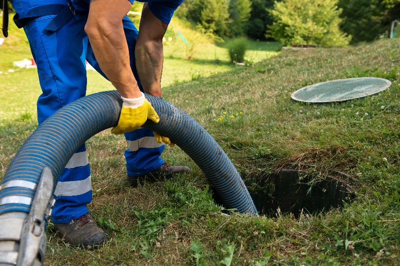 Septic Tank Cleaning with pipe